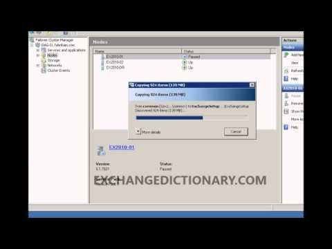 Exchange Server 2010 Service Pack Upgrade Process