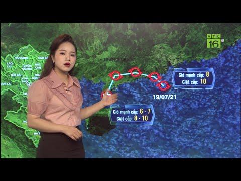 Thời tiết ngày  mai 20/07/2021 |  Áp thấp nhiệt đới mạnh lên thành bão số 3, Bắc Bộ mưa to | VTC16