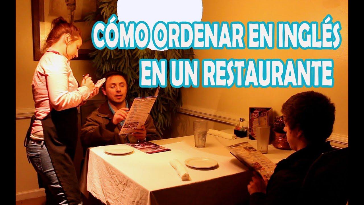 Cómo ordenar en un restaurante en inglés. Comida, bebidas,servilletas,etc.