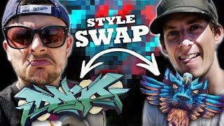 Mural vs Graffiti Artist SWAP their ⇄ STYLES! | Ft. Kiptoe