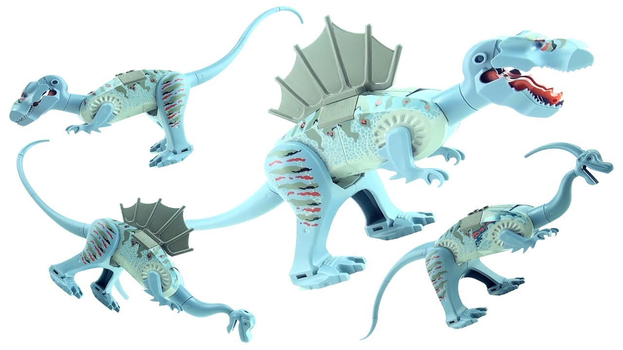 4 lego dinosaurs tyrannosaurus 6720 t rex spinosaurus - Lego dinosaures ...