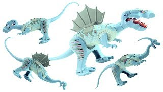 4 LEGO DInosaurs Tyrannosaurus 6720 - T-Rex Spinosaurus Parasaurolophos - Lego Dino Speed Build