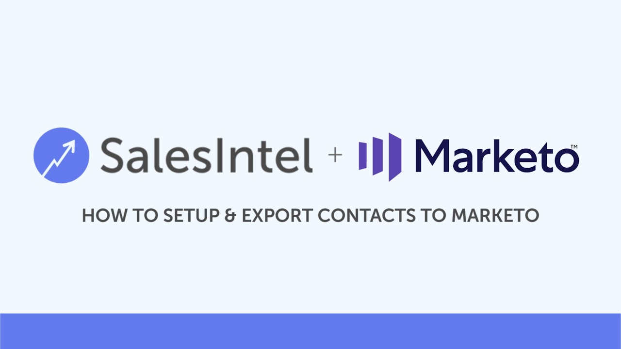 How to SetUp and Export Contacts Into Marketo