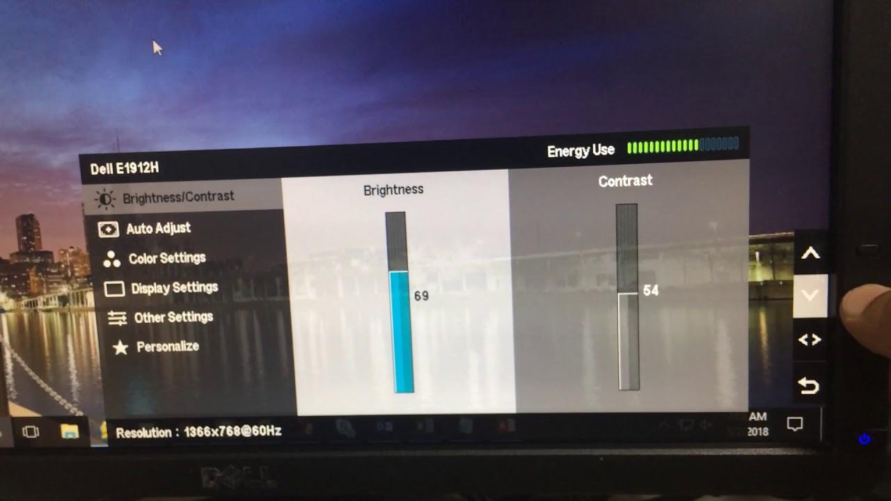 Increase brightness of  Dell monitor