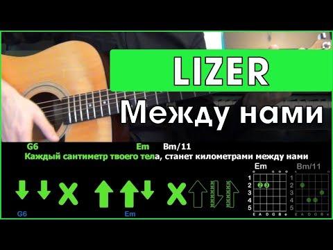 LIZER - Между Нами | Разбор песни на гитаре | Табы, аккорды и бой  | Без баррэ