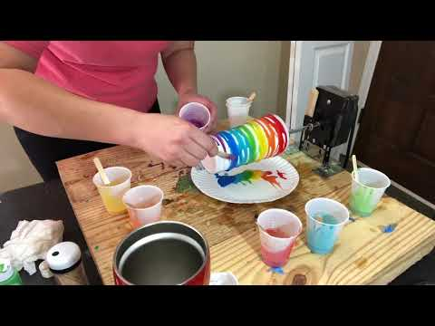 Paint Dyed Epoxy Cup