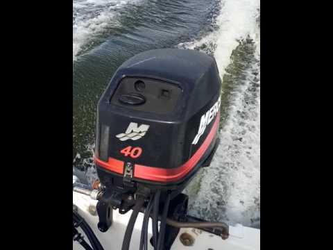 Boston Whaler with 2001 Mercury 40 hp