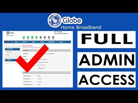 Globe DSL Prolink Router Default Admin Password and IP