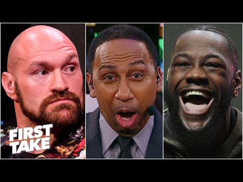 'Tyson Fury is gonna get knocked back to the UK' by Deontay Wilder - Stephen A.  First Take