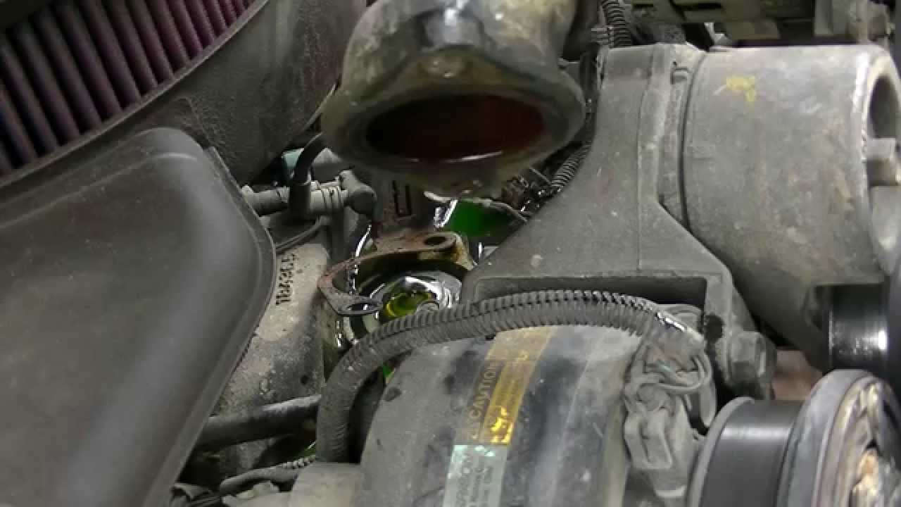 94 chevy 57 350 thermostat replacement  YouTube