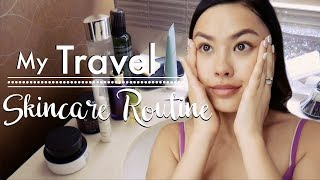 My Travel Skincare Routine Walk-Through | How I Keep My Skin Nice, Packing & Travel Tips!