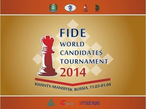 Candidates Tournament 2014. Round 1 (English audio)