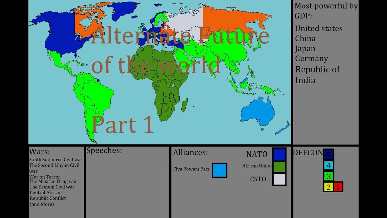 Alternate Future Of The World Part The Slavic Union Of Nations - World most powerful countries in future