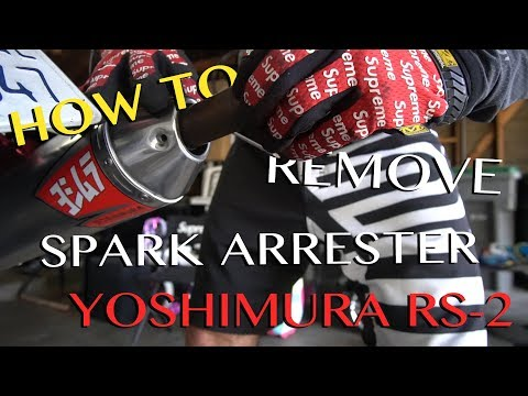 How to Remove the Spark Arrester Yoshimura RS-2 DRZ 400SM