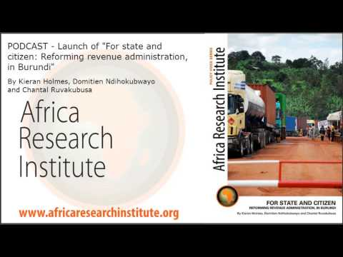 Tax in Africa: Lessons from Burundi (event in full)