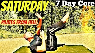 Saturday - Best Pilates Core Abs Workout from HELL! 7 Day Core Challenge #7daycorechallenge