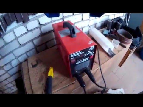 Почему на инверторе сварочный ток на всю, а электрод не горит
