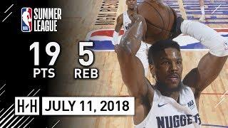 Malik Beasley Full Highlights vs Raptors (2018.07.11) NBA Summer League - 19 Pts, 5 Reb