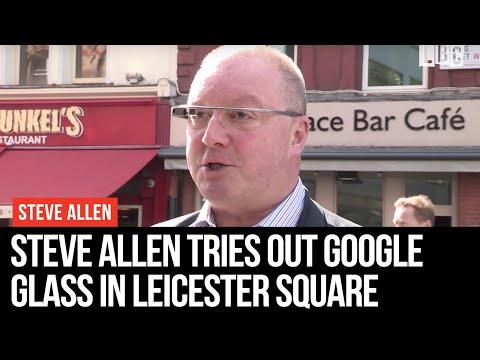 Steve Allen Tries Out Google Glass