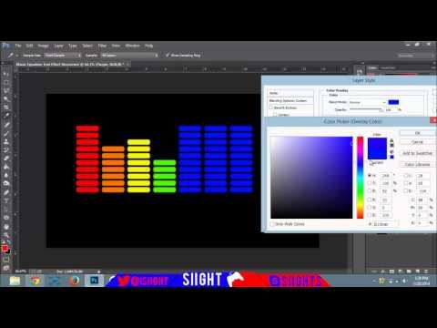 Music Equalizer - Photoshop Speed Art