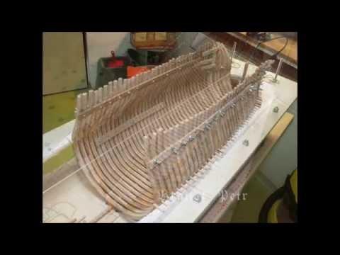 Historic ship model building Le Fleuron 1729-part I
