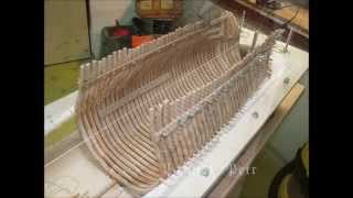 Historic ship model building Le Fleuron 1729