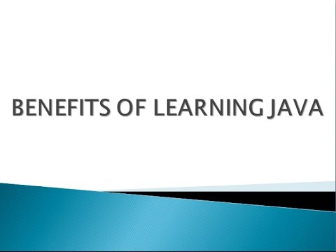 what are the benefits of learning java programming language