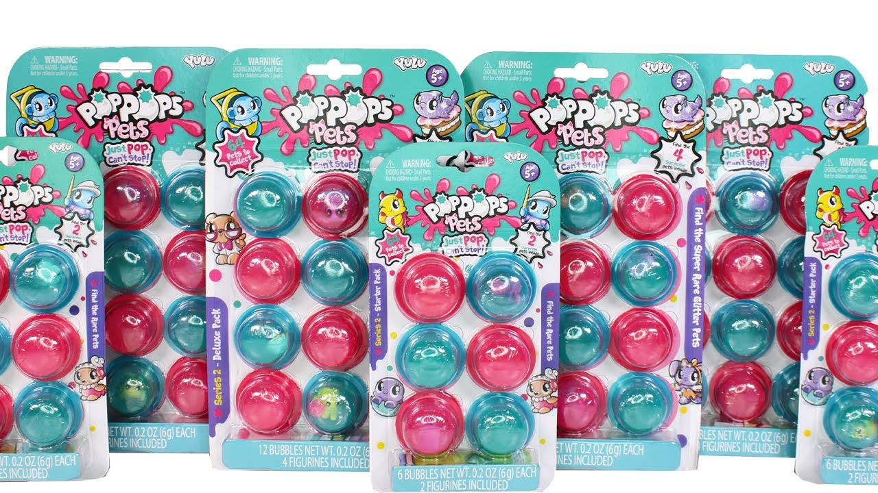 PoP pops Pets Series 2 Starter Pack 6 Slime /& 2 Figures