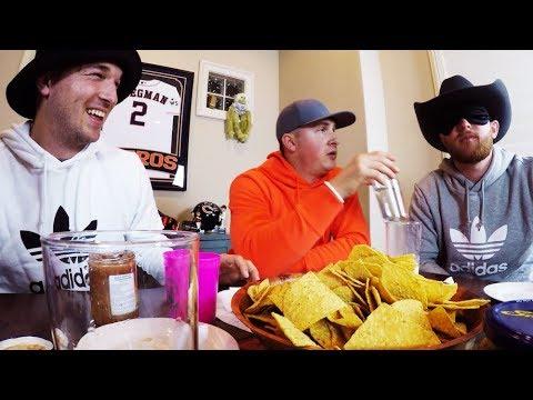 Bird Box Challenge HOT SALSA Taste Test | Breg And The Boys Ep. 12