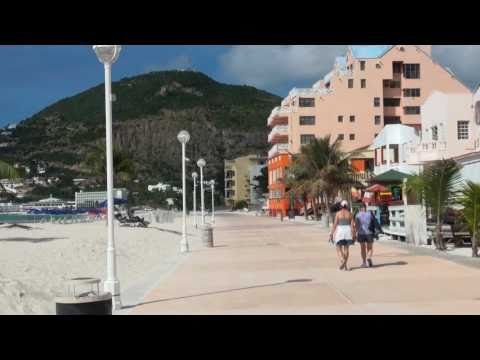 Beach in Downtown Philipsburg, Sint Maarten