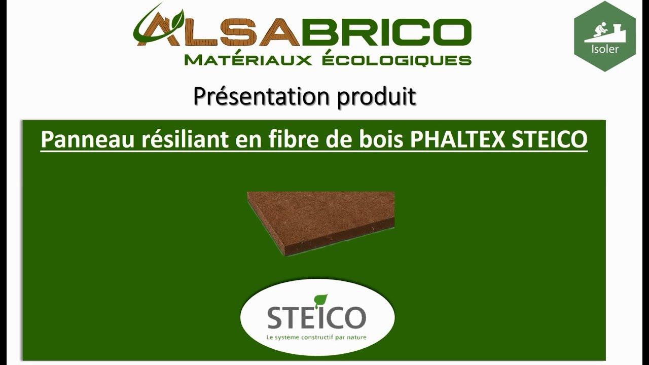 Steico Phaltex Panneau Résiliant En Fibre De Bois Présentation Produit Alsabrico