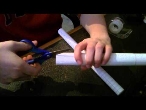 How to make a paper blowgun + darts