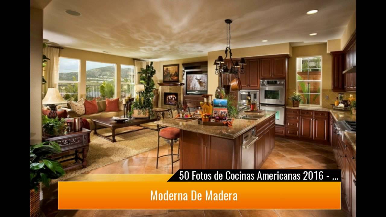 50 cocinas americanas con ideas para decorar youtube - Fotos de cocinas americanas ...