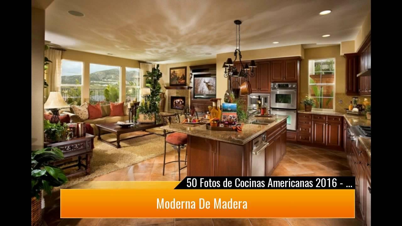 50 cocinas americanas con ideas para decorar youtube - Ideas para cocinas ...