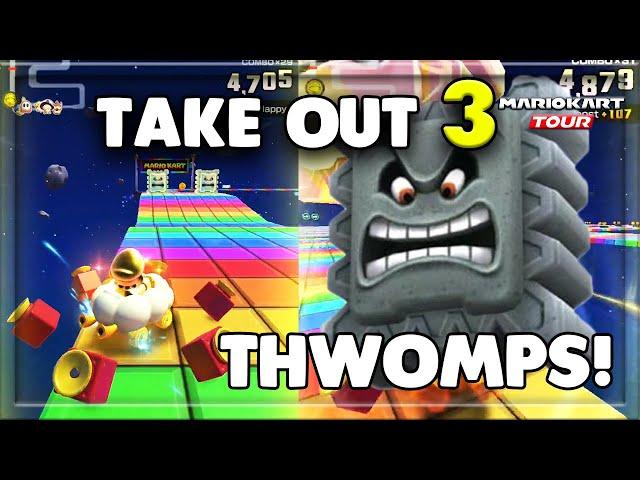 Mario Kart Tour How To Take Out 3 Thwomps