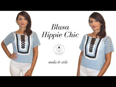 """tutorial:-blusa-""""hippie-chic""""/blusa-uncinetto/punto-granny-*lafatatuttofare*"""