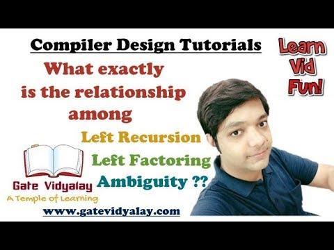 Relationship between Left Recursion, Left Factoring and Ambiguity in Compiler Design