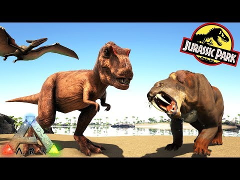 ALBERTOSAURUS, NEW PTERANODON & SABER (SMILODON)!! Ark Survival Evolved Jurassic Park Expansion Mod