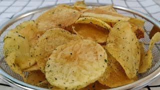 감자튀김만들기! 해초 감자 칩 스낵! 바삭한 감자튀김 …