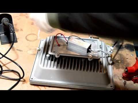 Ремонт светодиодного прожектора 50 Ватт