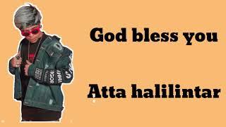 Lagu baru atta!! Kado untuk atta - God bless you (lirik)