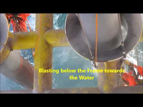 Rope Access and Slurry Blasting Conductors Offshore