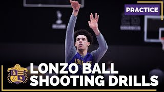 Lakers Rookie Lonzo Ball's Shooting Drills