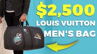 Unboxing $2,500 Louis Vuitton Men's Bag | Custom Keepall | Alex Costa
