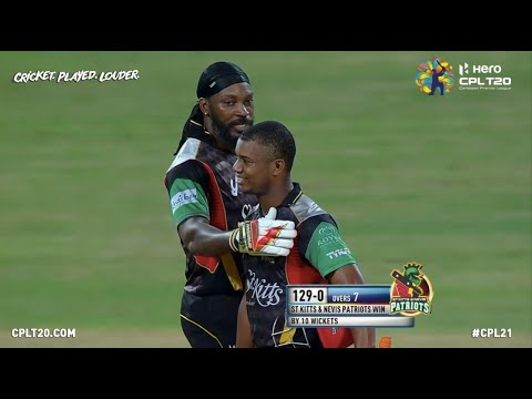 Record Breakers! Chris Gayle & Evin Lewis chase down 129 runs in just 7 overs! | CPL 2017
