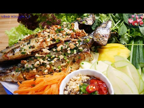 Cá nướng - Cá Nục nướng - Cách làm nước Mắm Me, rang đậu phọng, làm đồ chua, làm Bún by Vanh Khuyen