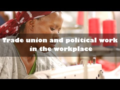 Trade Union & Political Work in the Workplace - Industrial School 2013