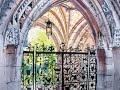 Рисуем акварелью арку в готическом стиле.