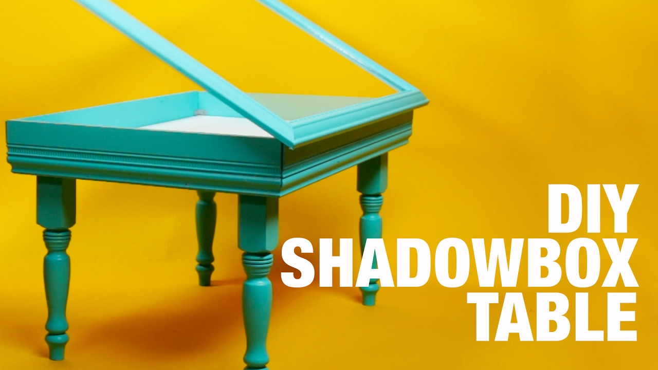 DIY Shadowbox Table YouTube - Shadow box side table