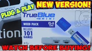 $20 PlayStation Classic Hack - 101 Games Newest Version True Blue Mini Plug & Play USB!